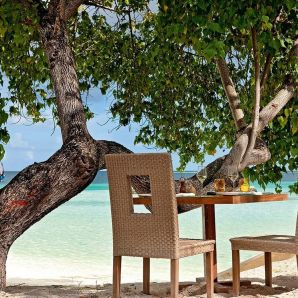 Valtiot/Malediivit/2020/luksus/Moofushi-beach-lunch